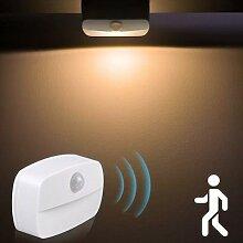 Veilleuse LED avec capteur de mouvement sans fil,
