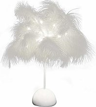 Veilleuse LED en forme de plumes pour la maison,