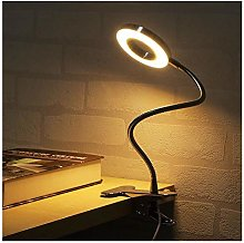 Veilleuse LED lampe de bureau avec pince Dimmable