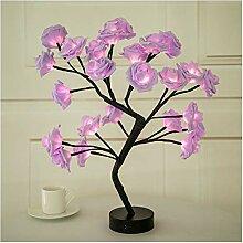 Veilleuse Rose Flower Tree Light LED USB