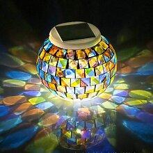 Veilleuse solaire à LED avec changement de