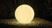 Velamp Boule lumineuse solaire Ø 30cm Blanc