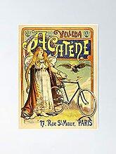 VELLEDA ACATENE Paris 1890 Art de vélo French Art