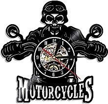 Vélo Moto Voiture Horloge Murale Moto Cavalier