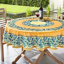 Vent du Sud Nappe au motif olives lavable, 160 x