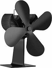 Ventilateur de cheminée à 4 pales, silencieux et