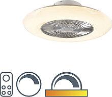 Ventilateur de plafond argent avec LED avec effet