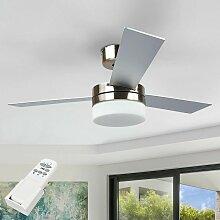 Ventilateur de plafond avec lampe 'Alvin'