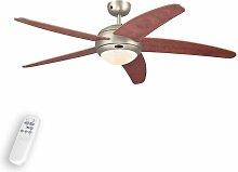 Ventilateur de plafond avec lampe 'Bendan'