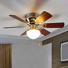 Ventilateur de plafond avec lampe 'Flavio'