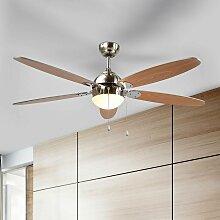 Ventilateur de plafond avec lampe 'Levian'