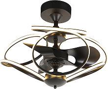 Ventilateur de plafond design noir avec