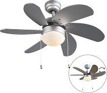 Ventilateur de plafond gris - Fresh 3