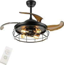 Ventilateur de plafond industriel avec éclairage