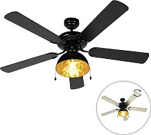 Ventilateur de plafond industriel noir - Magna