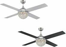 Ventilateur de plafond Kelcie Nickel avec