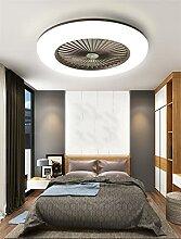 Ventilateur De Plafond Plafonnier,LED Dimming