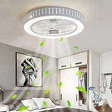 Ventilateur LED Plafonnier Moderne Nordic Dimmable