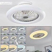 Ventilateur lumineux LED Piraeus blanc et titane,