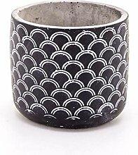 Veramaya Moules Patternblack Béton Pot 14x12.5 Cm