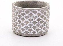 Veramaya Moules Patternwhite Pot en béton 12x9.5