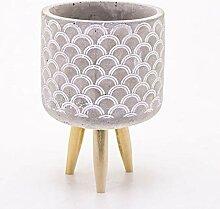 Veramaya Pied moules Motif béton Blanc Pot14x20,5