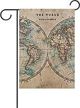 Véritable Vieille Carte du Monde teinté 30x45cm