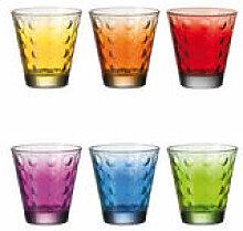 Verre à whisky Optic / Set 6 verres multicolores