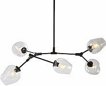 Verre Boule De Bulle Lustre,5-lumières Spoutnik