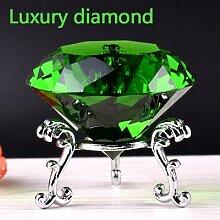 Verre cristal diamant de couleurs luxueuses,