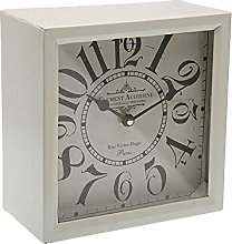 Versa Horloge de Bureau carrée Blanc