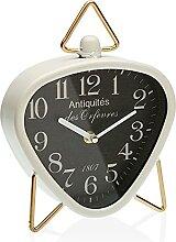 Versa Horloge de Bureau Triangulaire Blanc