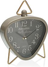 Versa Horloge de Bureau Triangulaire Gris