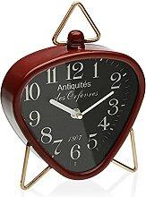 Versa Horloge de Bureau Triangulaire Rouge