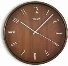 Versa Horloge de cuisine en bois foncé 30 C