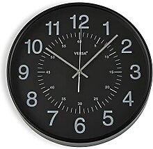 Versa Horloge de Cuisine Noir 37,8 cm