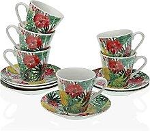 Versa Lot de 6 tasses à café ayanna, service de