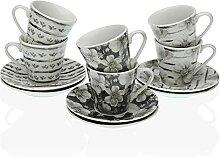 Versa Lot de 6 tasses à café éléanore, service