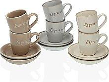 Versa Lot de 6 tasses à café Lieke, service de