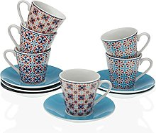 Versa Lot de 6 tasses à café Zanna, service de
