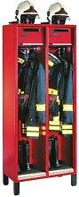 vestiaire pompier 2 colonnes