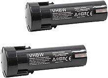 vhbw 2x Batterie remplacement pour Weidmüller