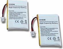 vhbw 2x Batteries remplacement pour Plantronics