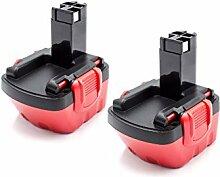 vhbw 2x NiMH batterie 1500mAh (12V) pour outil