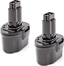 vhbw 2x NiMH batterie 2000mAh (7.2V) pour outil