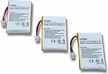 vhbw 3x Batteries remplacement pour Plantronics