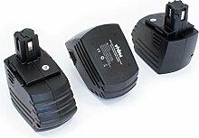 vhbw 3x NiMH batterie 3300mAh (15.6V) pour outil
