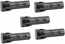 vhbw 5x Batterie remplacement pour Weidmüller