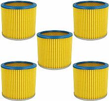 vhbw 5x Filtre rond / filtre en lamelles pour
