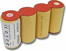 vhbw batterie NiMH 3000mAh (4.8V) pour balai